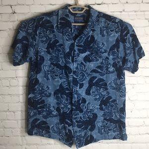 Pendleton hawaiian button down shirt